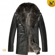 Mens Sheepskin Winter Coat Black CW868881