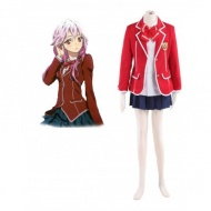 Guilty Crown Yuzuriha Inori Tennouzu High School Girl Uniform Cosplay Costume