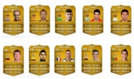 the top ten football players in FIFA 15, including Ivan Rakitic, Andres Iniesta, Neymar, Luis Suarez, Lionel Messi, Toni Kroos, James Rodriguez, Karim Benzema, Gareth Bale, and Cristiano Ronaldo. Are these FIFA 15 player cards available now? Details: http://www.gold4fans.com/News/14072804542851/Info.aspx