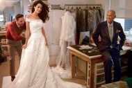 Amal Alamuddin in white lace wedding dress