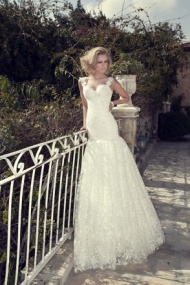 Sleeveless Straps Sweep Train Lace Trumpet Mermaid Wedding Dress With Appliques