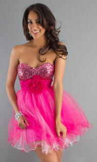 Strapless Baby Glamorous Doll Party Dress