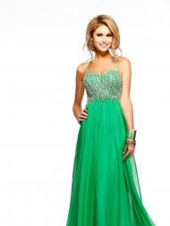 Ruffles Halter Sleeveless Chiffon Prom Dresses With Beaded