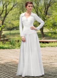 Robe de mariée avec Plissé Fleur(s) À ruban(s)