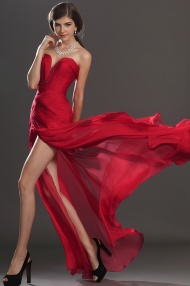 Sleeveless Floor-Length Spaghetti Straps Trumpet/Mermaid Chiffon Dress