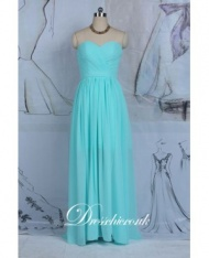 Light Green Sweetheart Bridesmaid Dress With Open Back