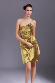 Sexy Shining One-shoulder A-Line Nice Cocktail Party Dress