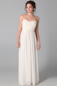 Floral Strapless Sleeveless Empire Bridal Casual Cheap Wedding Dress online