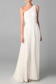 Eye-Catching Sleeveless One-shoulder Casual Cheap UK Wedding Dresses