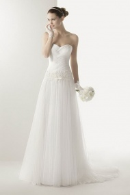 Regal And Exquisite Tulle Floor-Length Natural Sleeveless Bridal Wedding Dress