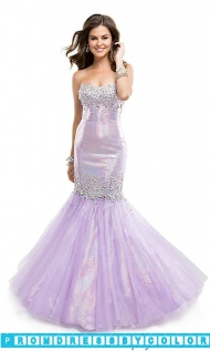 $243 Red Prom Dresses - Long Strapless Beaded Mermaid Gown