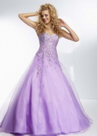 Mori Lee 95097 Beaded Corset A Line Ball Gown    $213.00