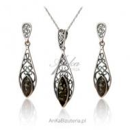 Komplet biżuterii srebrnej dla kobiety