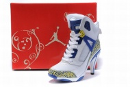 michael jordan 3.5 high heels white/blue/yellow Model: 58948 -- $89.99 At www.uniqueshoeshops.com