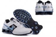 Mens 948AT42 2015 White Black University Blue Nike Shox Deliver [Model: a2n112124] $62.08 At shoxclearance.com  The Nike Shox athletic shoes ensure a more comfortable and safer experience by shox technology simply to the runner. Therefore, if you pursue a lifestyle that is good, you trust shox footwear. Mens 948AT42 2015 White Black University Blue Nike Shox Deliver are a pair of classic connected with Nike Shox to fulfill the need of both wife and husband. Our affordable Nike Shox classic styles will will give you a feeling that is totally different. Distinct colours can be bought by you from our outlet store.