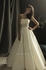 Vestido de novia Corte princesa Cremallera tafetán Natural Hinchado