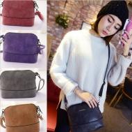 Women Scrub Shoulder PU Leather Purse Satchel Messenger Bag  US $ 5.99