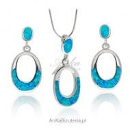 Srebrna biżuteria z opalem
