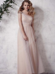 Graceful Plus Size A-lineOne-shoulder Bridesmaid Dress$97.29