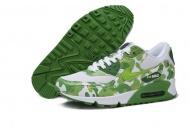 Air Max 90 Womens White Shoes Flower Green