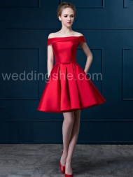 A-Line Short Red Sweetheart Sweet Dress$91.39