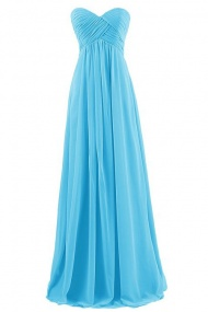 Simple A-line Sweetheart Floor-length Blue Bridesmaid/Prom/Homecoming Dress $39.99 + Free Shipping