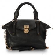 MICHAEL Michael Kors Hamilton Medium Black Satchel