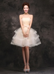 Sweet Strapless A-Line Knee-Length Sweet  Dress$66.29