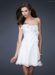 Fancy A-Line Strapless Short Cocktail Dress$85.89