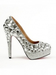 Rubber Rhinestones High Heels-US$67.40