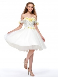 Gorgeous Off-the-Shoulder Flowers $98.09
