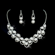 Glamorous Alloy with Pearl Wedding Jewelry $38.99