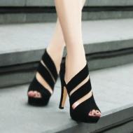 Fashion Sexy Lady Black  Heels Shoes$19.19