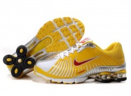 Nike Shox Experience Womens 691CU66 2015 Yellow/Red-Silver