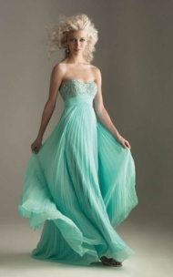 Night Moves 6237 Light Green Beads Evening Gowns Online
