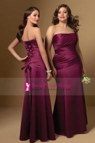 http://www.newpromshop.com/plus-size-bridesmaid-dresses-strapless-floor-length-satin-corset-back-7211649
