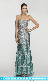 $213 Red Prom Dresses - Long Strapless Sequined Ombre Dress at www.promdressbycolor.com