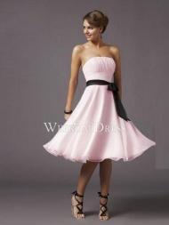 Zipper Knee-Length Natural Sleeveless Strapless Types prom dresses under 100 -wepromdresses.com