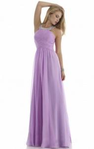 Silhouette: A-line Neckline: Halter Sleeve: Sleeveless Waist: Empire Length: Floor Length read more:http://www.marieaustralia.com/formal-dresses-sydney