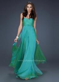 La Femme 17111 Jungle Strapless Fringe Green Occasion Dresseses Online
