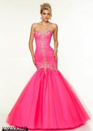 2015 Pink Panther Long Sweetheart Bodice Dresses