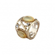 $25.67 Magnify Me Jewel Gold Luster Statement Ring from www.onlylovemyself.com