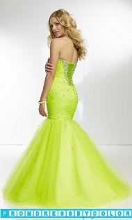 $210 Red Prom Dresses - Long Strapless Ruched Mermaid Gown at www.promdressbycolor.com
