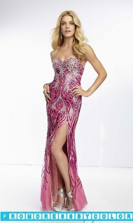 $213 Red Prom Dresses - Long Beaded Strapless Sweetheart Gown at www.promdressbycolor.com
