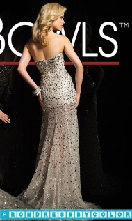 $220 Black Prom Dresses - Beaded Strapless Sweetheart Gown at www.promdressbycolor.com