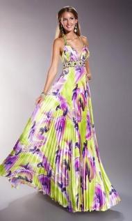 Backless Pleated|Rhinestone Floor-Length Empire Sleeveless V-neck long prom dresses -wepromdresses.com