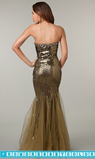 $209 Black Prom Dresses - Strapless Sweetheart Mermaid Sequin Dress at www.promdressbycolor.com