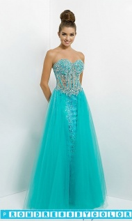 $204 Red Prom Dresses - Strapless Sequin Dress with a Sheer Waist at www.promdressbycolor.com