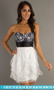 $149 Black Prom Dresses - Short Strapless Prom Dress by LA Glo at www.promdressbycolor.com