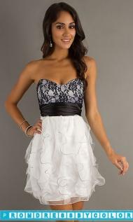 $149 Black Prom Dresses - Short Strapless Prom Dress by LA Glo at www.promdressbycolor.com